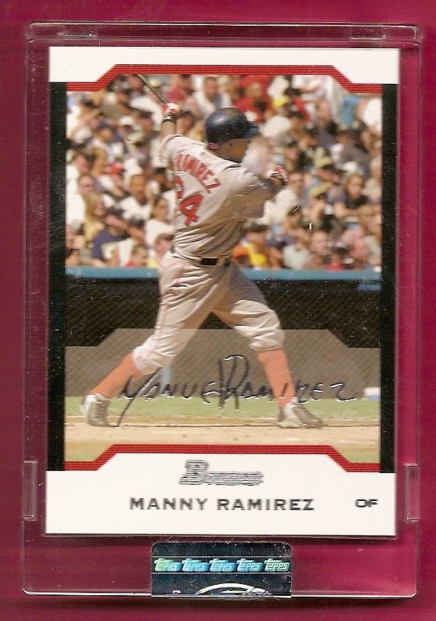 2004 Bowman Uncirculated Silver #7 Manny Ramirez
