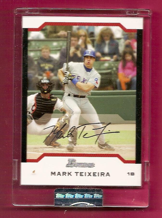 2004 Bowman Uncirculated Silver #63 Mark Teixeira