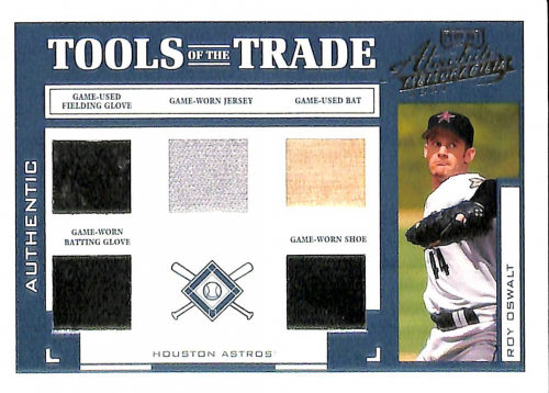 2004 Absolute Memorabilia Tools of the Trade Material Five #TT130 Roy Oswalt/Bat-Btg Glv-Fld Glv-Jsy-Shoe/25