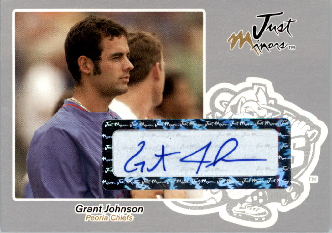 2005 Just Autographs Signatures Silver #34 Grant Johnson