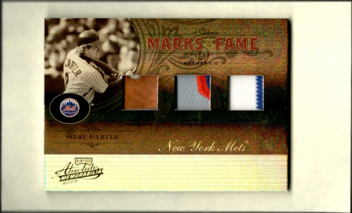 2005 Absolute Memorabilia Marks of Fame Swatch Triple Spectrum Prime #MF37 Gary Carter FG-J-P/15