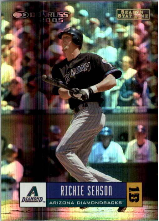 2005 Donruss Stat Line Season #89 Richie Sexson/90