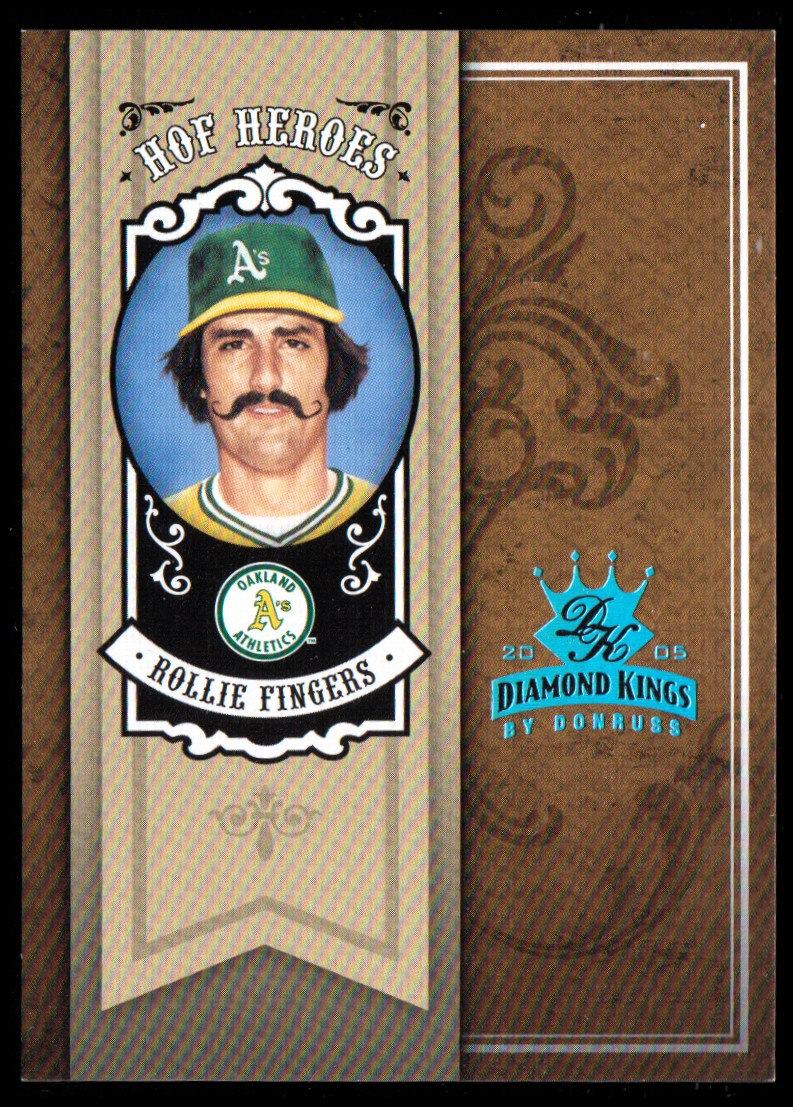 2005 Diamond Kings HOF Heroes Framed Blue Platinum #HH66 Rollie Fingers