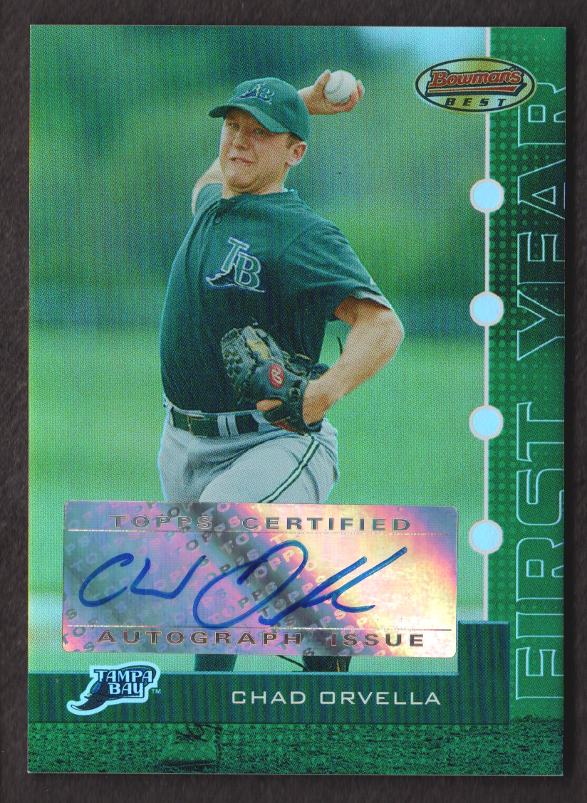 2005 Bowman's Best Green #119 Chad Orvella FY AU
