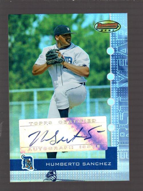 2005 Bowman's Best Silver #135 Humberto Sanchez FY AU