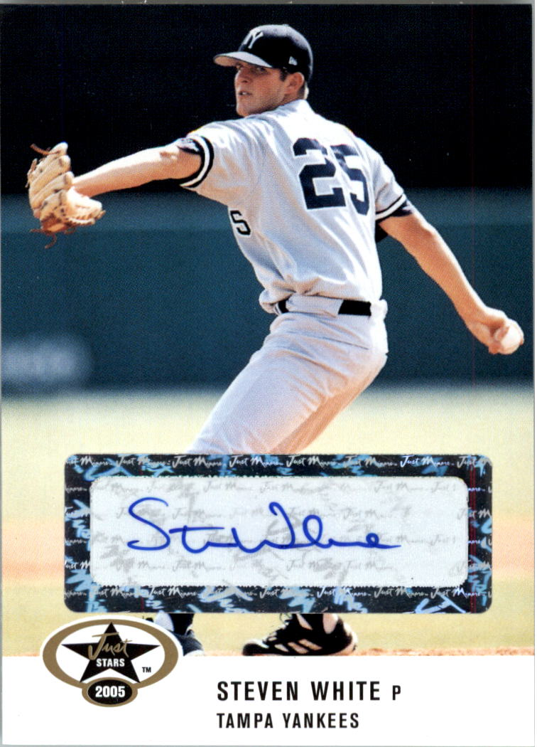 2005 Just Stars Autographs #59 Steven White/450 *