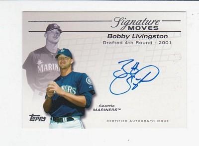 2005 Topps Update Signature Moves #BL Bobby Livingston D/475
