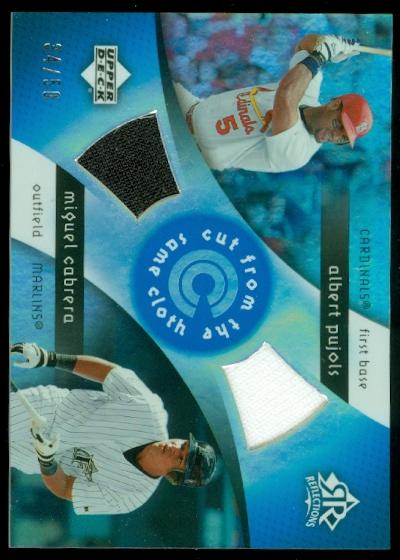 2005 Reflections Cut From the Same Cloth Dual Jersey Blue #PC Albert Pujols/Miguel Cabrera