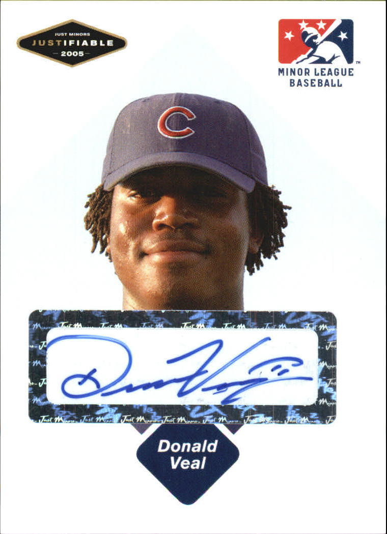 2005 Justifiable Autographs #84 Donald Veal/625 *