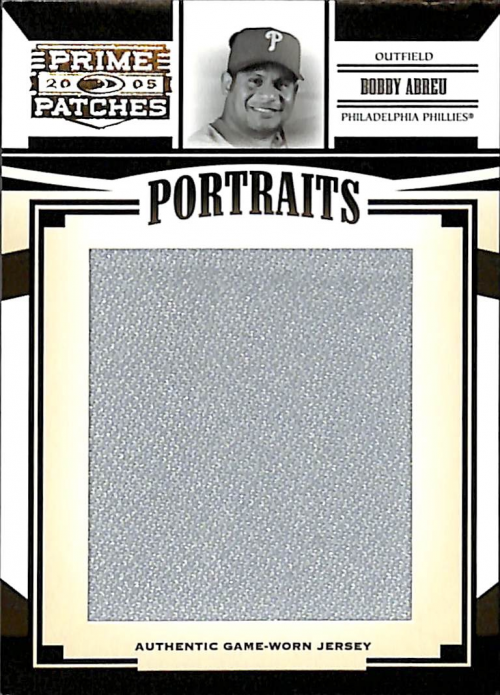 2005 Prime Patches Portraits Jumbo Swatch #60 Bobby Abreu/491