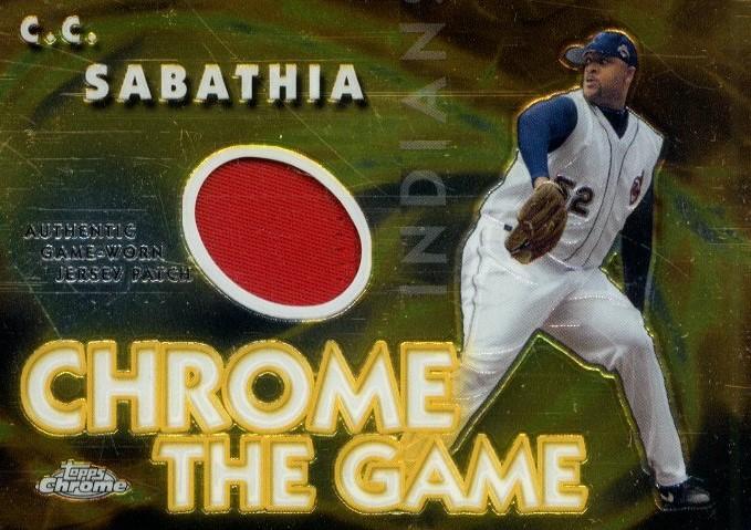 2005 Topps Chrome the Game Patch Relics #CS C.C. Sabathia