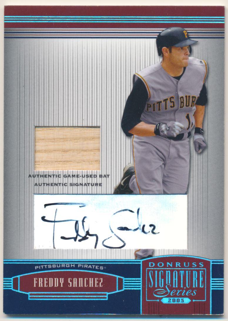 2005 Donruss Signature Autograph Material Bat Platinum #3 Chone Figgins/25