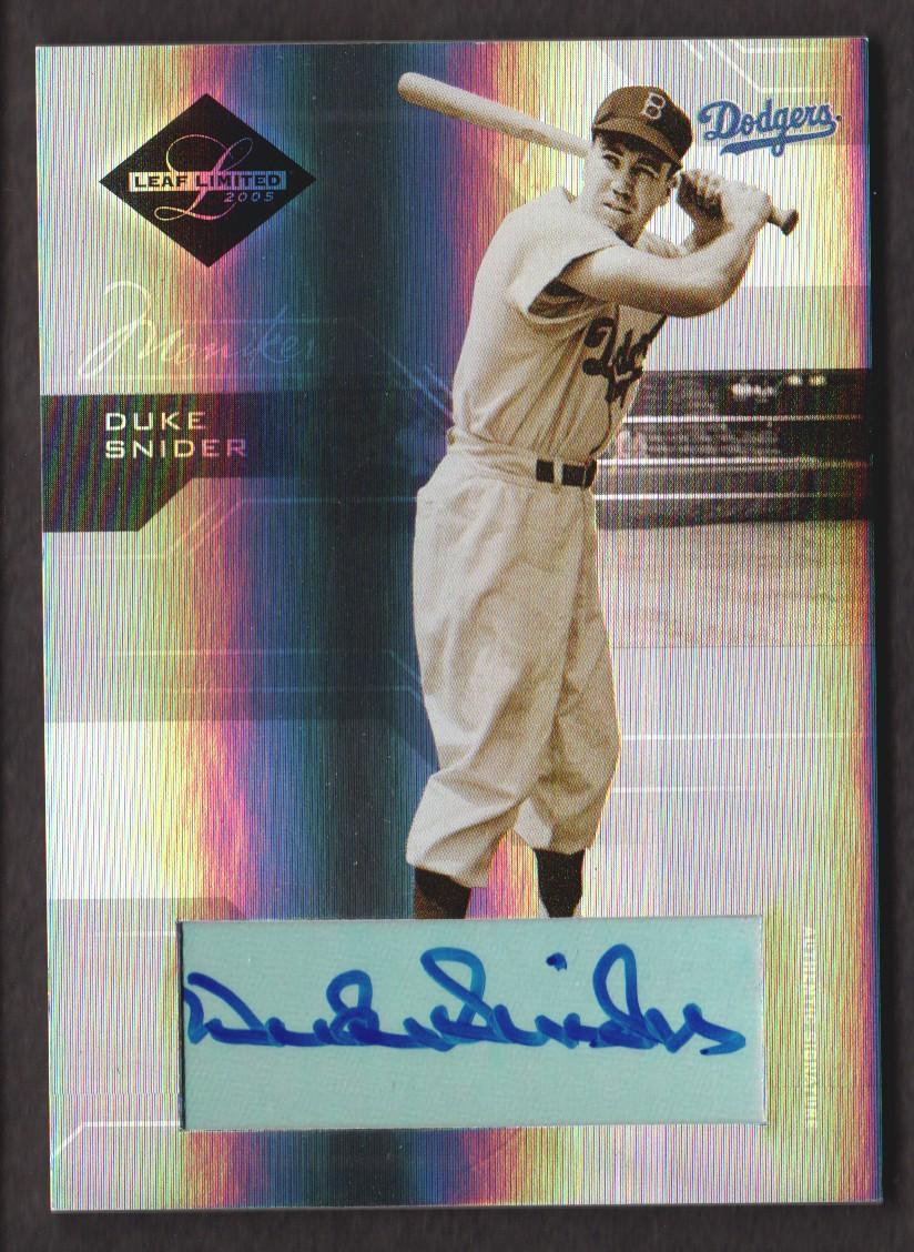 2005 Leaf Limited Monikers Silver #158 Duke Snider LGD/25