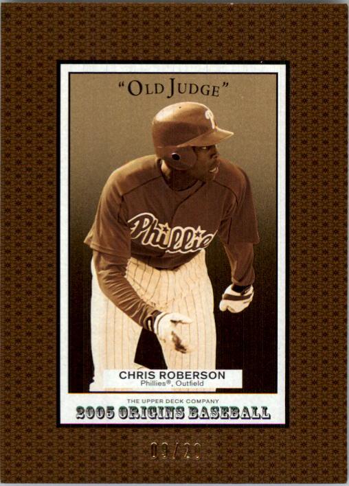 2005 Origins Old Judge Gold #212 Chris Roberson YS