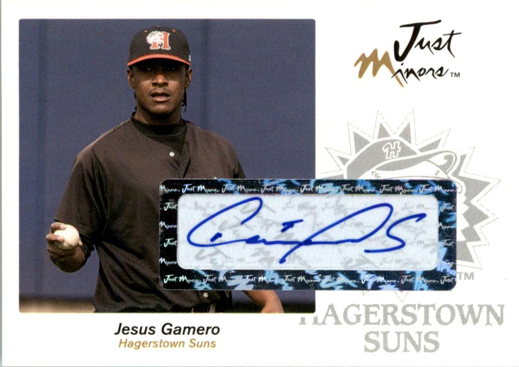 2005 Just Autographs Signatures #22 Jesus Gamero/825 *