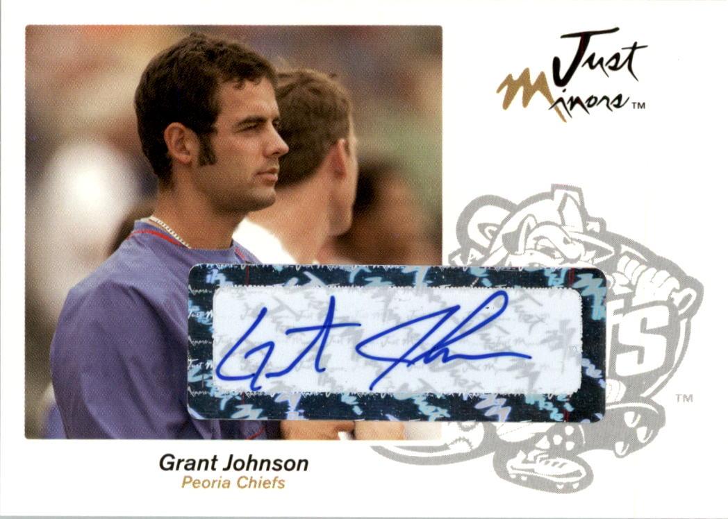 2005 Just Autographs Signatures #34 Grant Johnson/800 *