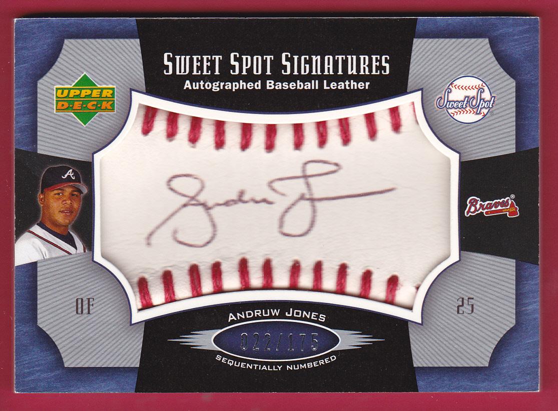 2005 Sweet Spot Signatures Red Stitch Black Ink #AJ Andruw Jones/175
