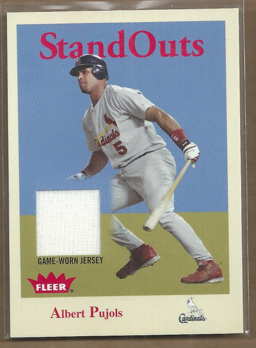 2005 Fleer Tradition Standouts Jersey #AP Albert Pujols