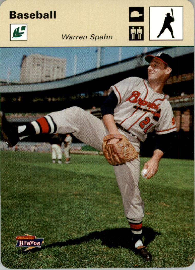 2005 Leaf Sportscasters 20 Beige Batting-Hat #49 Warren Spahn