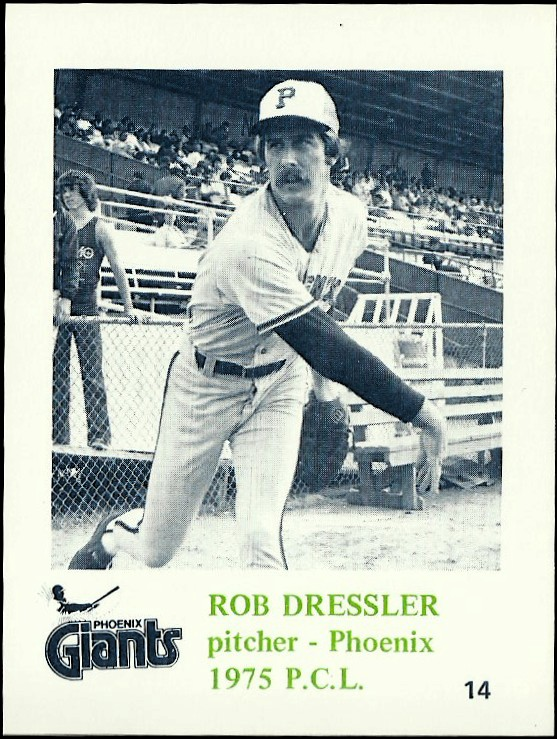 1975 Phoenix Giants Caruso #14 Rob Dressler