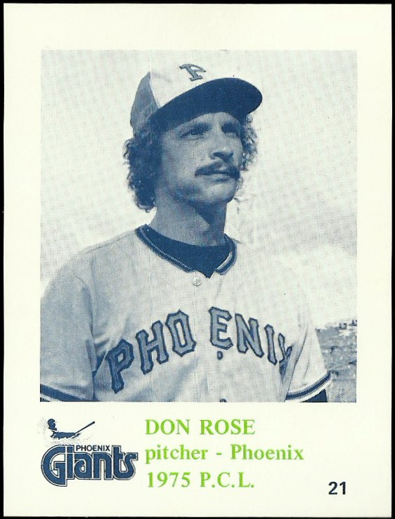 1975 Phoenix Giants Caruso #21 Don Rose
