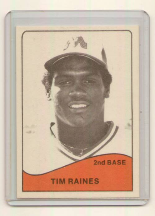 1979 Memphis Chicks TCMA #20 Tim Raines
