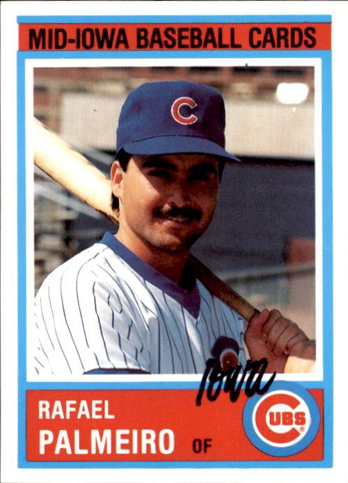 1987 Iowa Cubs Team Issue #24 Rafael Palmeiro