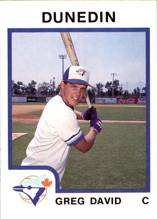 1987 Dunedin Blue Jays Procards 942 Greg Nápoles Florida Fl Béisbol