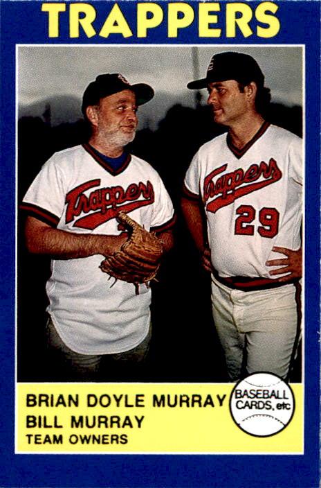 e90ac1ab8fb23 1988 Salt Lake City Trappers  2 Brian Murray Bill Murray Team Owners Card