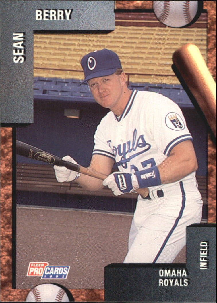 Details About 1992 Omaha Fleerprocards Baseball Card 2966 Sean Berry