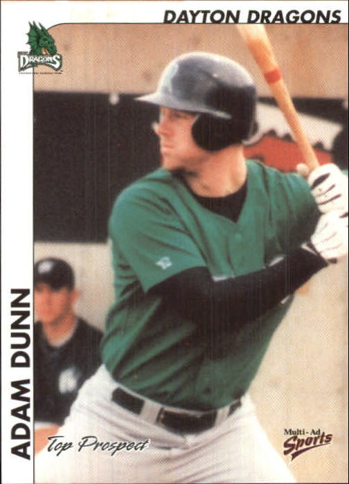 2000 Midwest League Top Prospects Multi-Ad #7 Adam Dunn