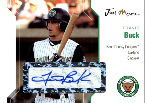 2006 Just Autographs Signatures #6 Travis Buck/350 *