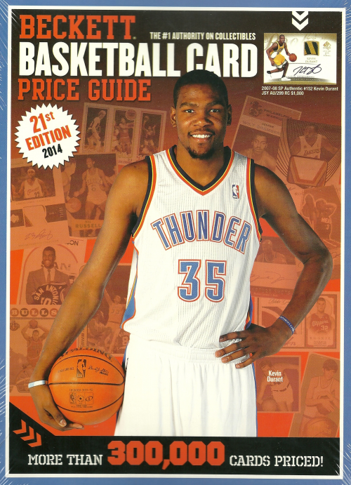 2014 Beckett Annual Basketball Card Price Guide #21 (Kevin Durant on Cover)