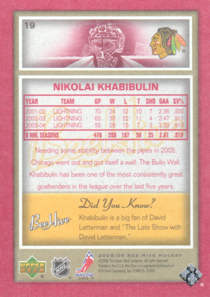 2005-06-Beehive-Red-Parallel-Hockey-Cards-Pick-From-List miniature 3