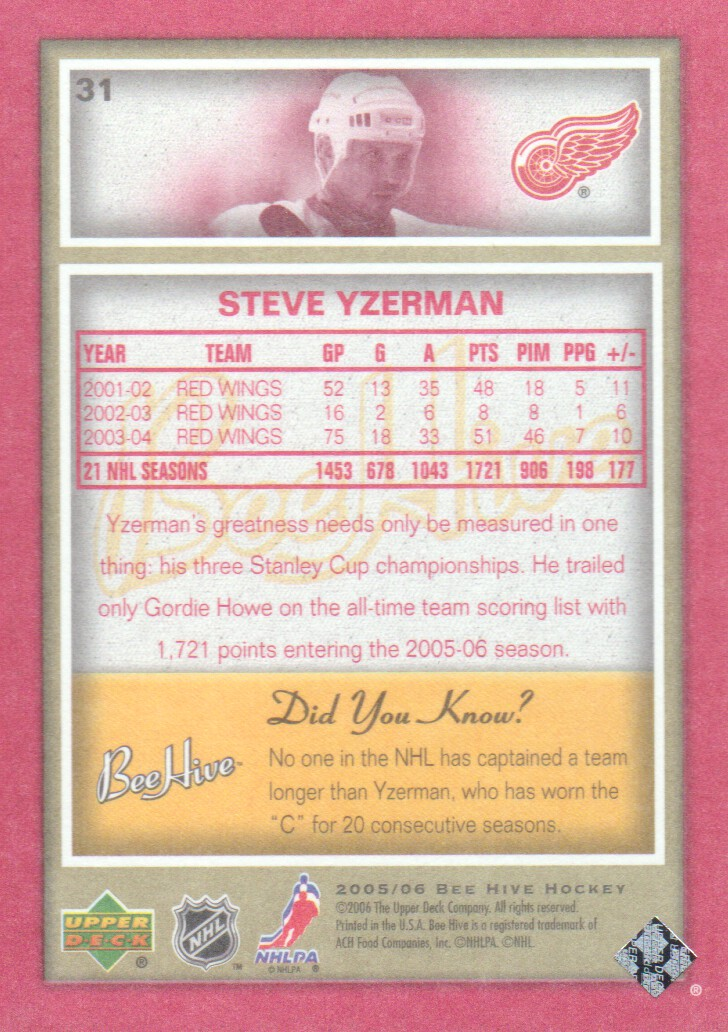 2005-06-Beehive-Red-Parallel-Hockey-Cards-Pick-From-List miniature 9