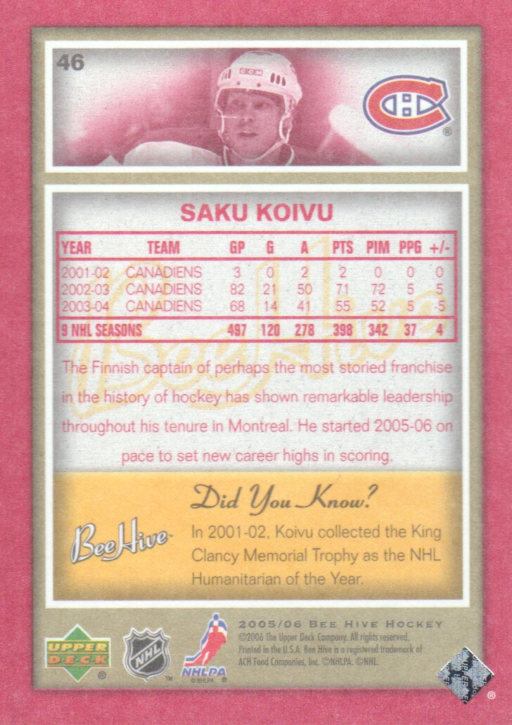 2005-06-Beehive-Red-Parallel-Hockey-Cards-Pick-From-List miniature 11