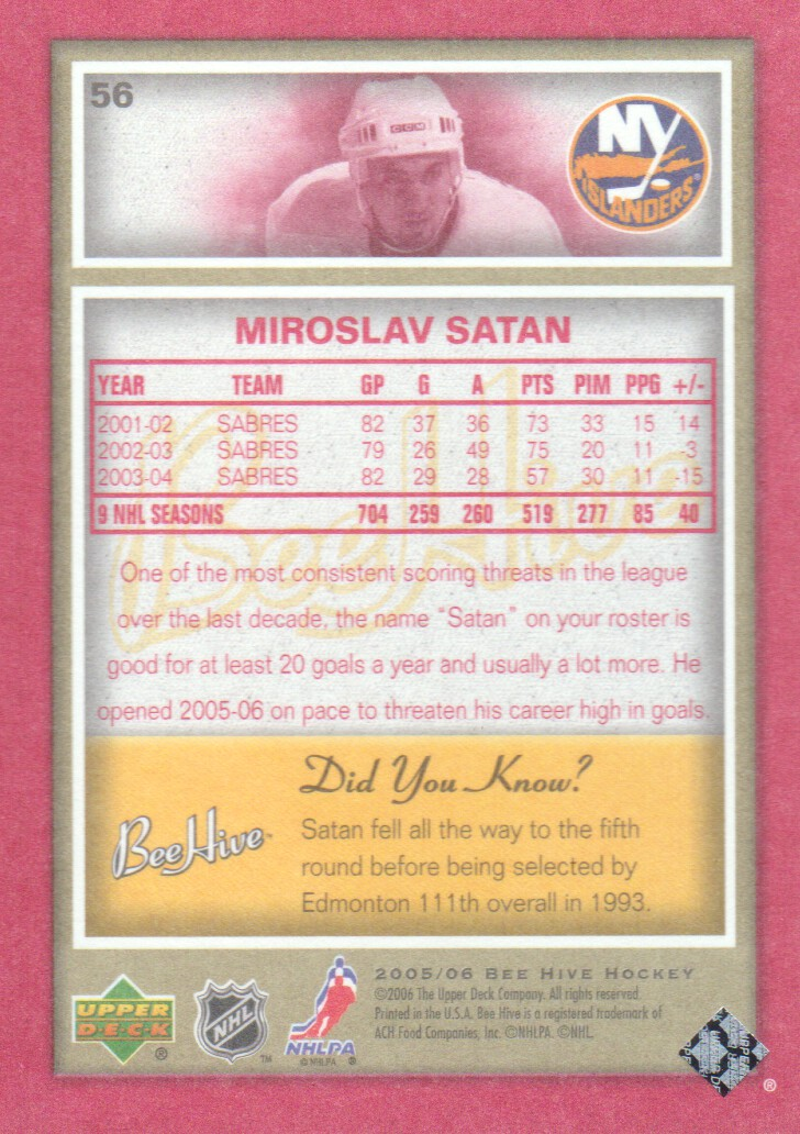 2005-06-Beehive-Red-Parallel-Hockey-Cards-Pick-From-List miniature 15