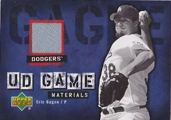 2006 Upper Deck UD Game Materials #EG Eric Gagne Jsy S1