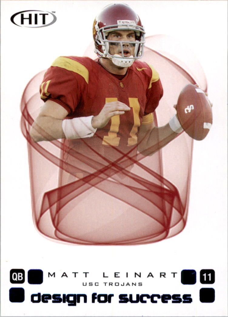 2006 SAGE HIT Design for Success Blue #D11 Matt Leinart