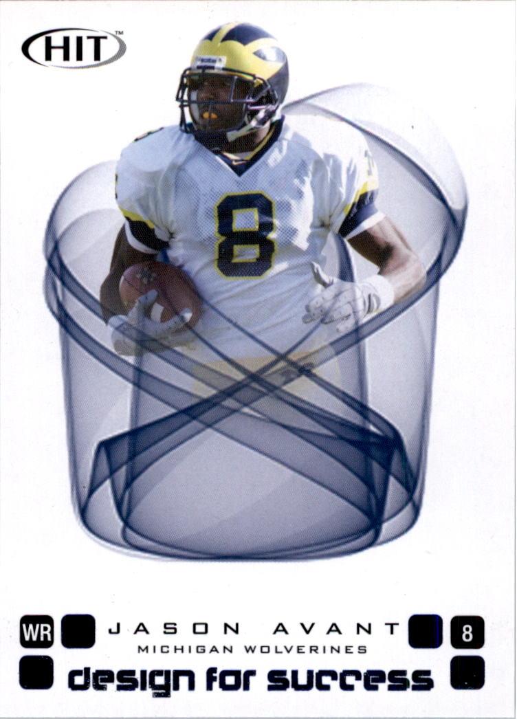 2006 SAGE HIT Design for Success Blue #D48 Jason Avant