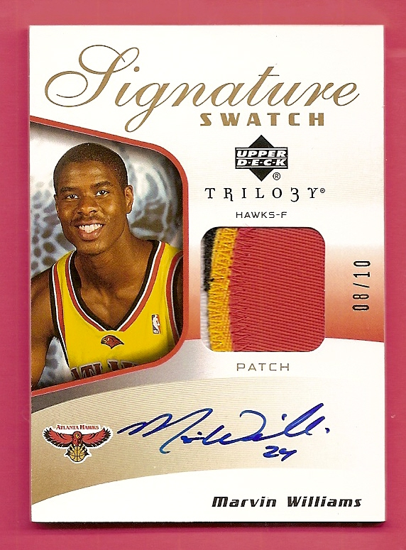 2005-06 Upper Deck Trilogy Signature Swatches Patches #MW Marvin Williams