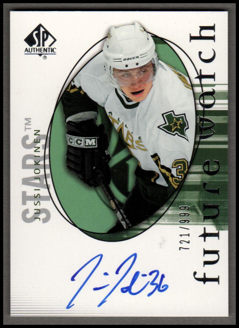 2005-06 SP Authentic #153 Jussi Jokinen AU RC