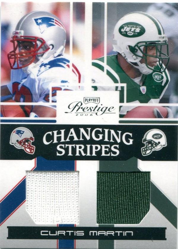 2006 Playoff Prestige Changing Stripes #5 Curtis Martin
