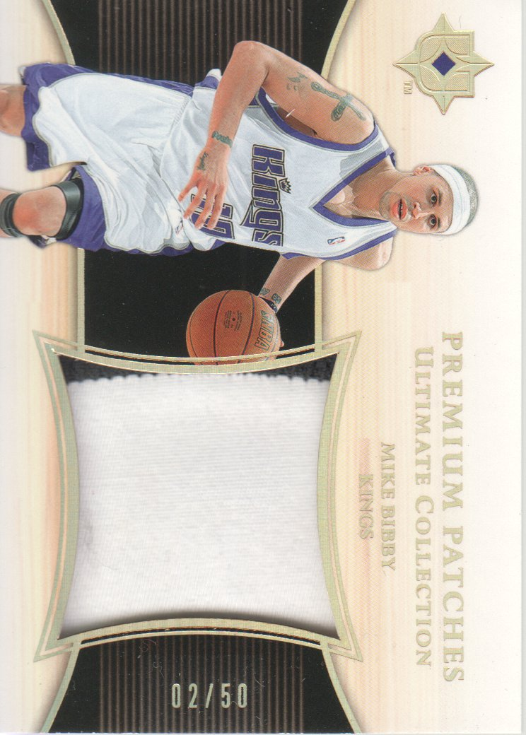 2005-06 Ultimate Collection Premium Patches #PPMB Mike Bibby/50