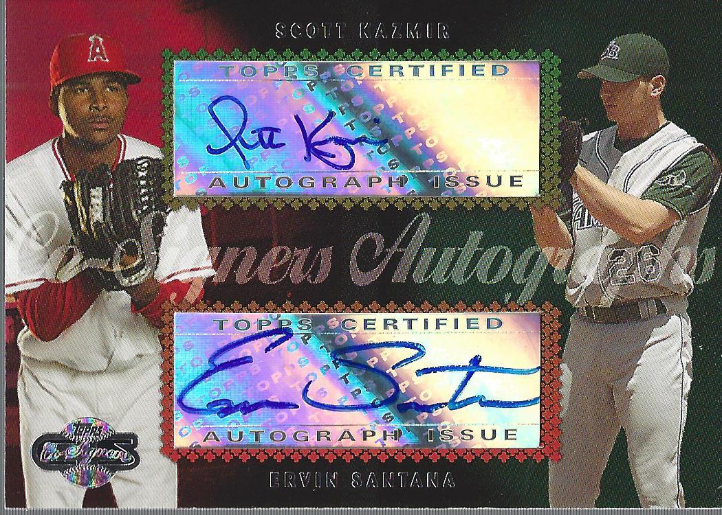 2006 Topps Co-Signers Dual Autographs #CS76 Scott Kazmir/Ervin Santana H/200 *