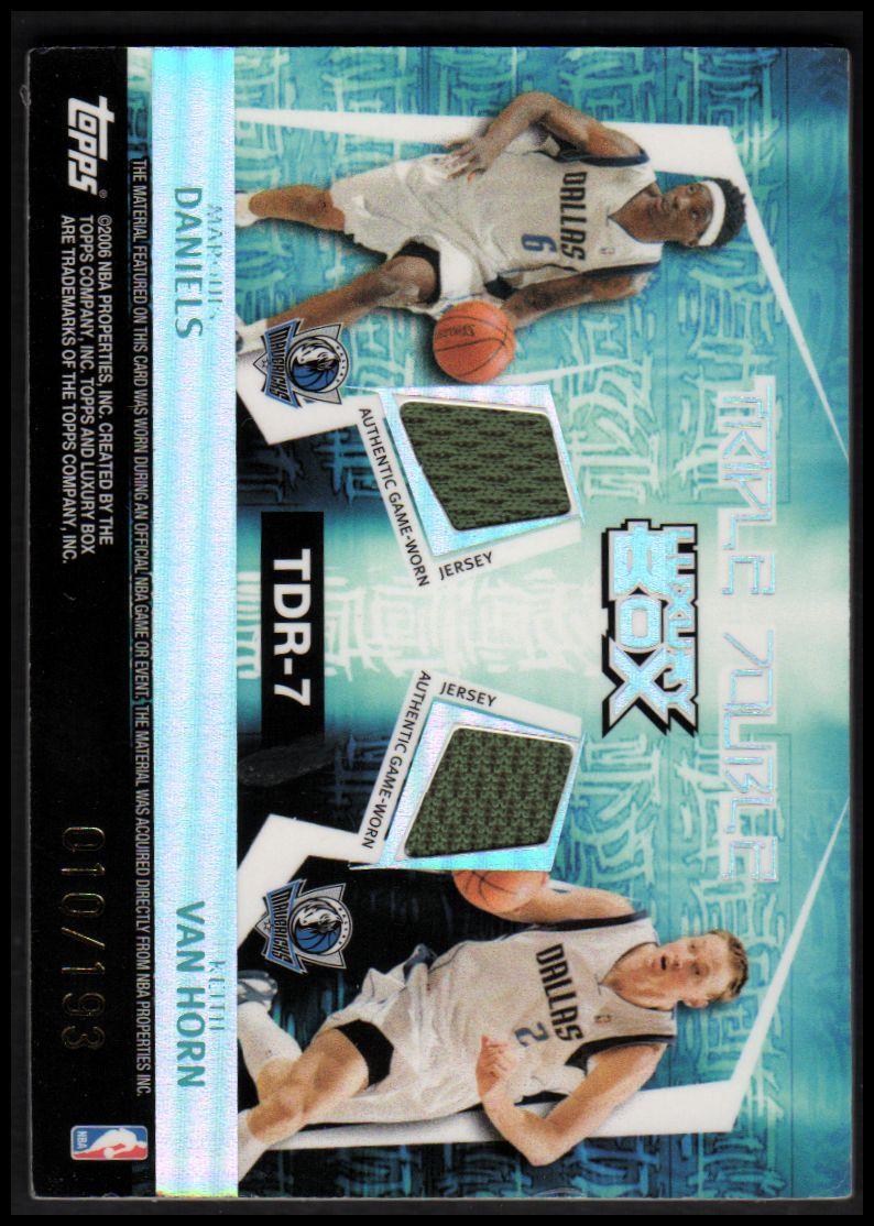2005-06 Topps Luxury Box Triple Double 5 Relics #7 Dirk Nowitzki/Josh Howard/Jason Terry/Marquis Daniels/Keith Van Horn back image