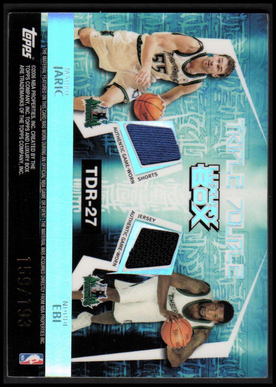 2005-06 Topps Luxury Box Triple Double 5 Relics #27 Kevin Garnett/Rashad McCants/Wally Szczerbiak/Marko Jaric/Ndudi Ebi back image