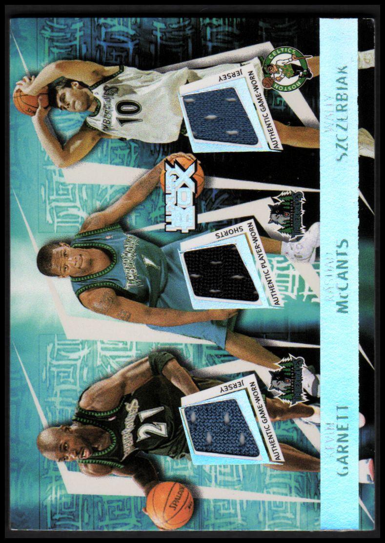 2005-06 Topps Luxury Box Triple Double 5 Relics #27 Kevin Garnett/Rashad McCants/Wally Szczerbiak/Marko Jaric/Ndudi Ebi