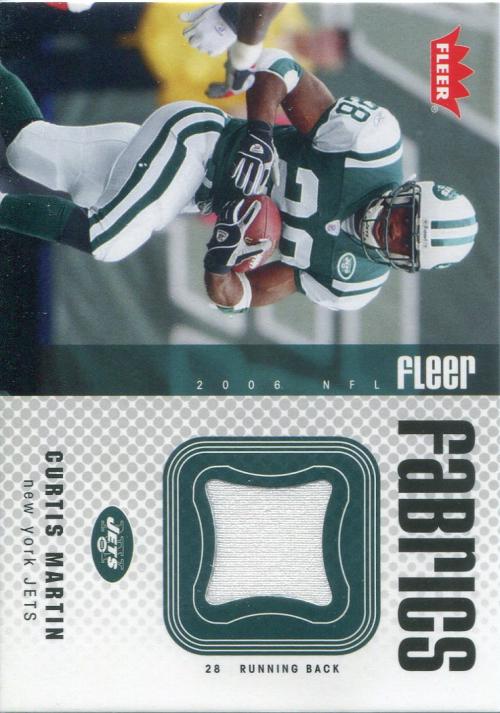 2006 Fleer Fabrics #FFCM Curtis Martin