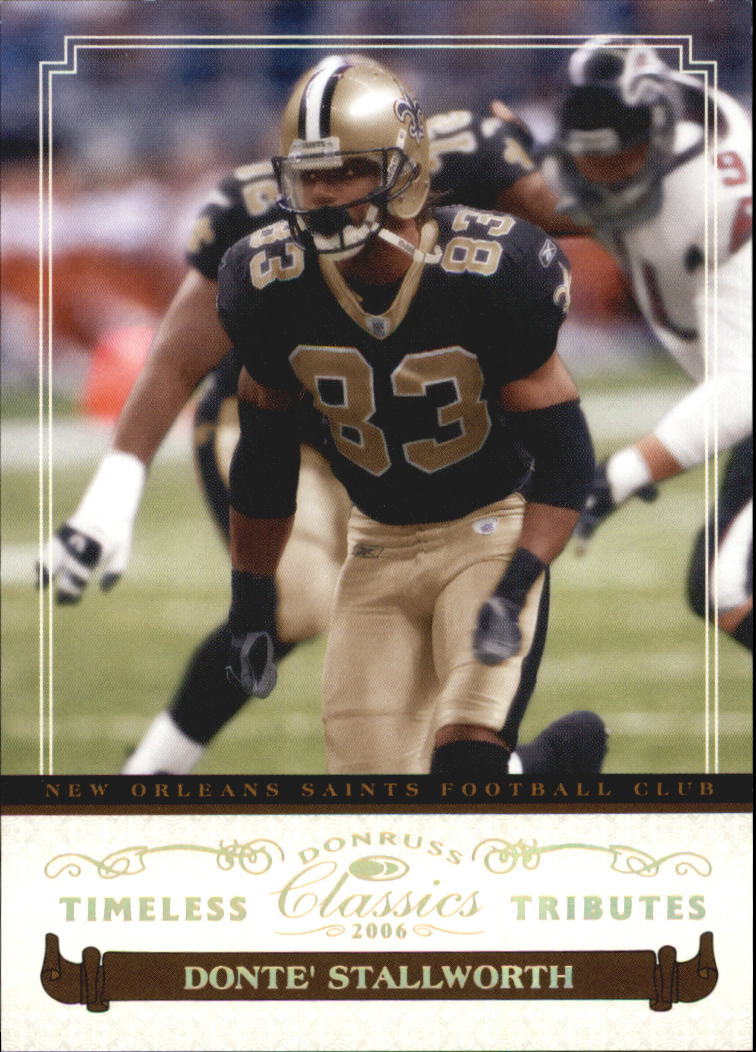 2006 Donruss Classics Timeless Tributes Gold #65 Donte Stallworth
